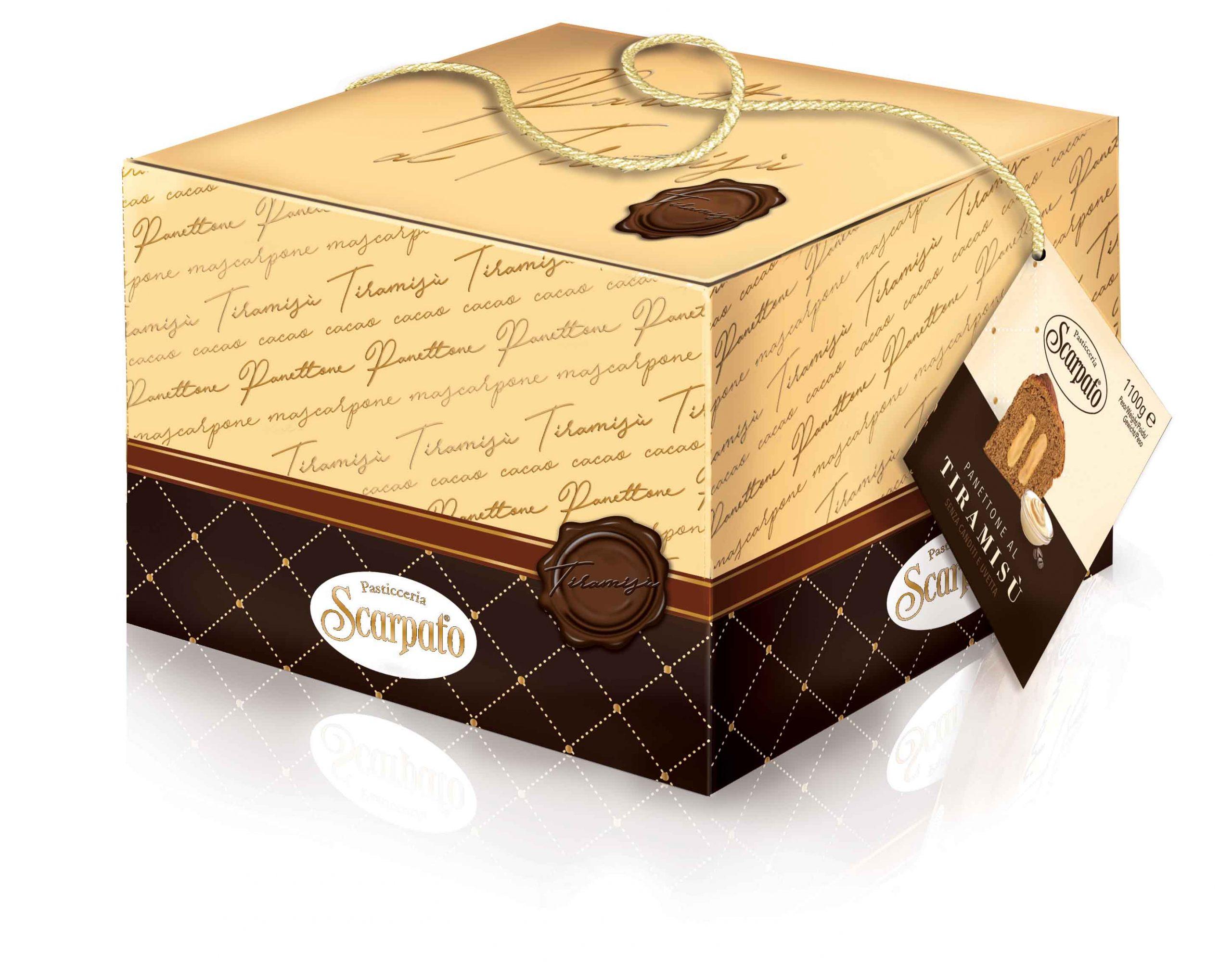 Pyragas Panettone SCARPATO Tiramisu su Mascarpone kremu