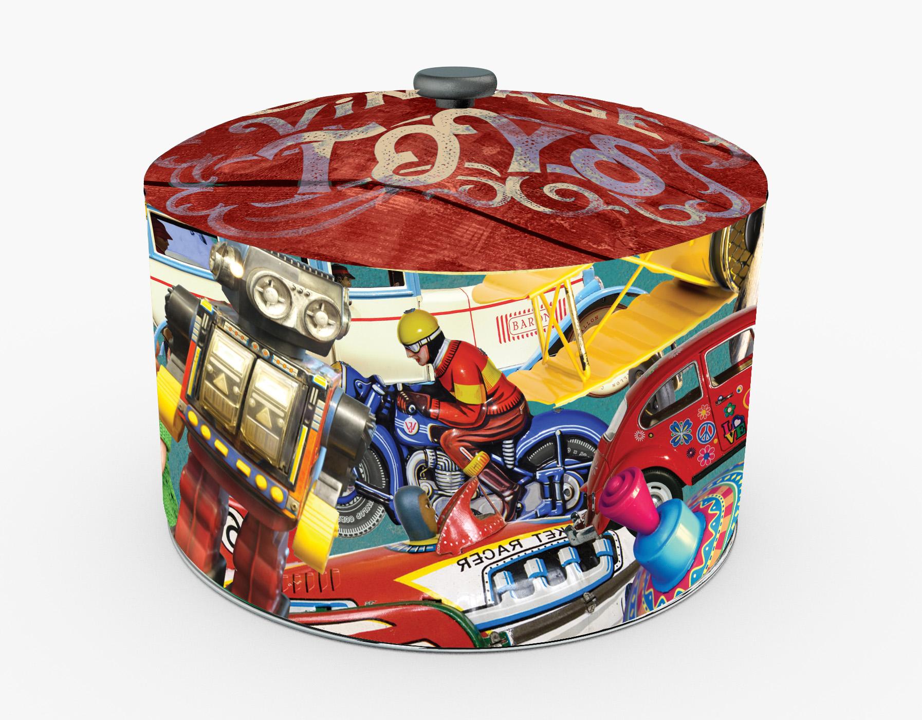 Pyragas Panettone su cukatais ir razinomis metalinėje dėžutėje 750 gr.