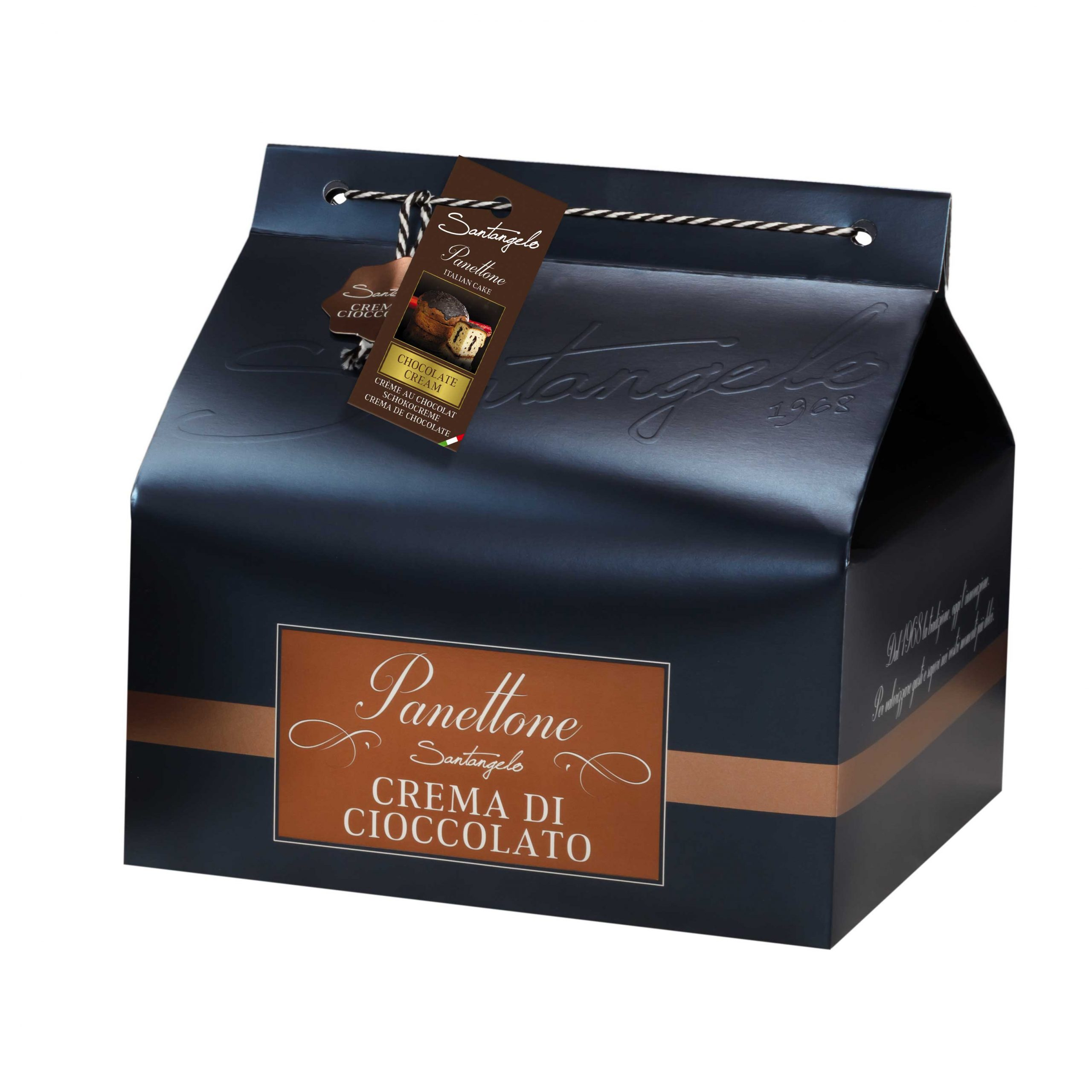 Pyragas Panettone SANTANGELO su šokolado kremu dėžėje 0,9kg