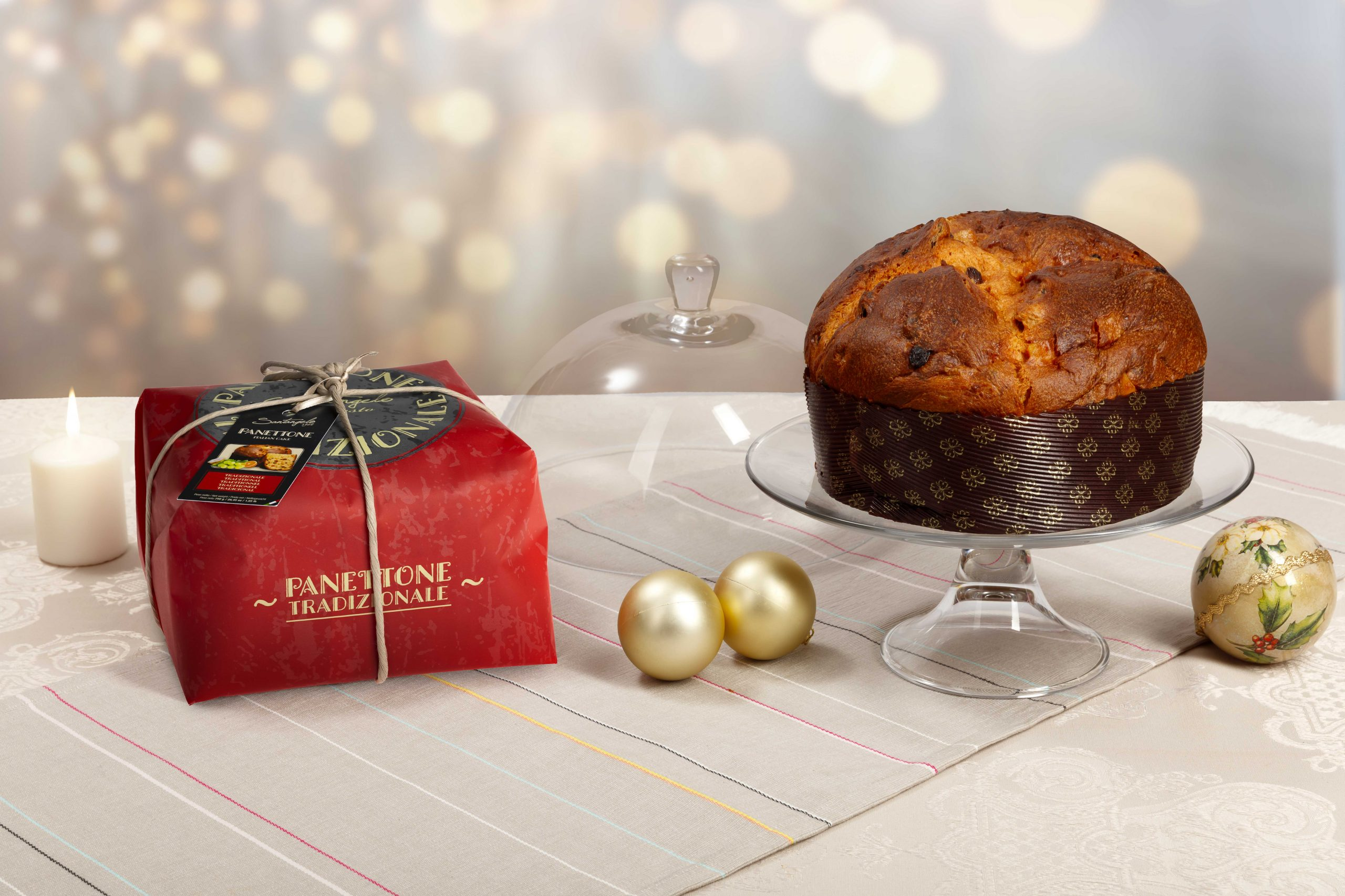 Pyragas Panettone SANTANGELO Classico raudonoje pakuotėje 0,9kg