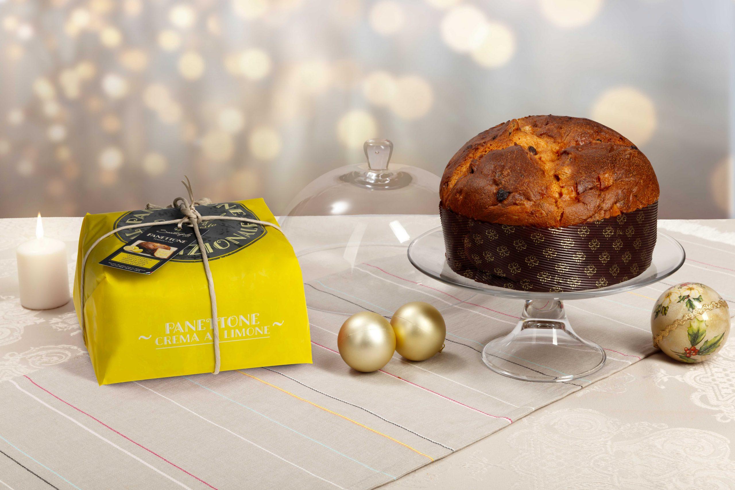 Pyragas Panettone SANTANGELO su citrinų kremu geltonoje pakuotėje 0,9kg